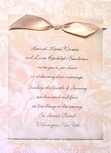 romantic wedding invitation wording