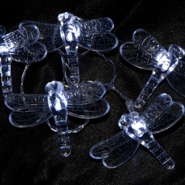Solar Dragonfly Lights, Cool White (from Fab). These would look so cool!