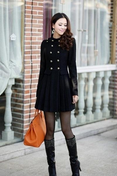 Winter Coat, Tights & Boots