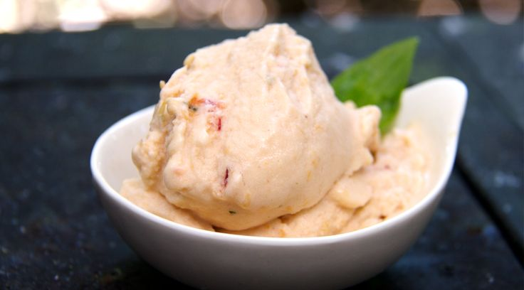 Our Paleo Peach Ice Cream, a vegan dessert is great for cookouts or ...
