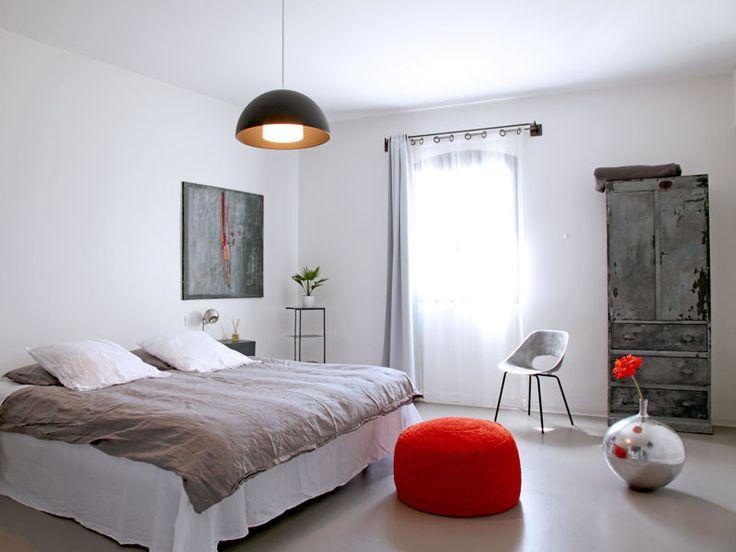 Deco Chambre Noir Violet : Chambre zen gris orange  Idées chambres  Pinterest