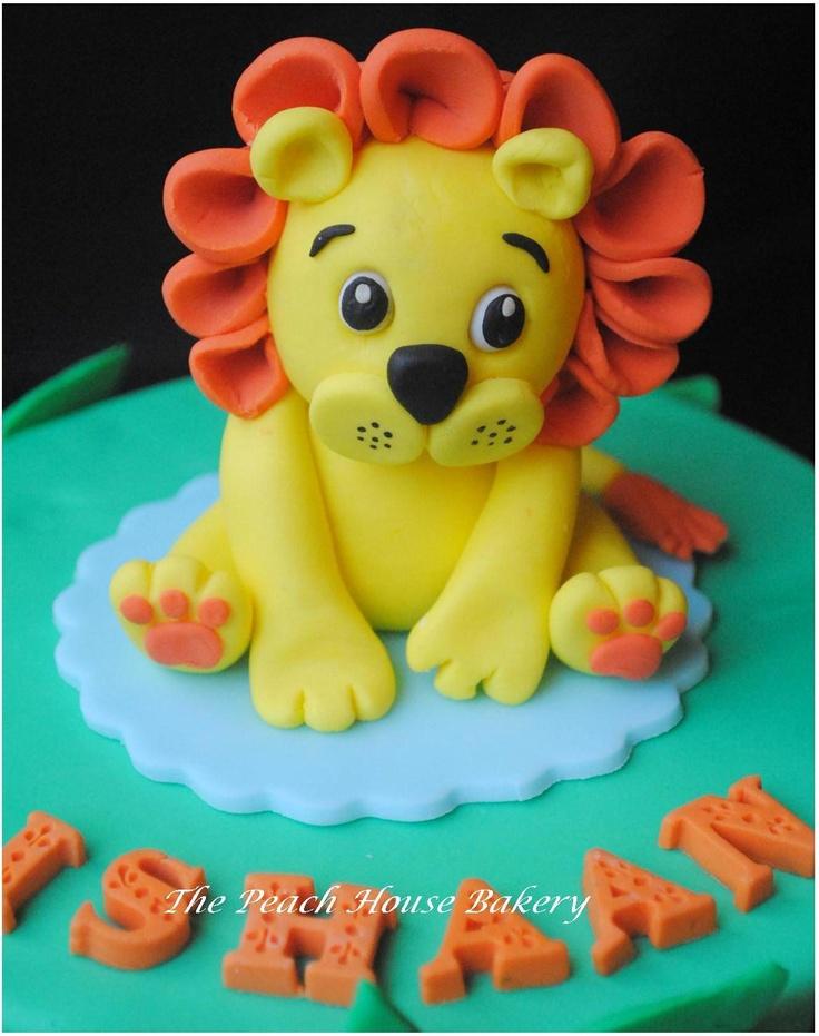 how to make a fondant lion