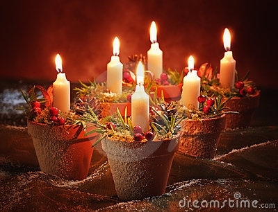 Christmas Candle Decoration by Celwell, via Dreamstime