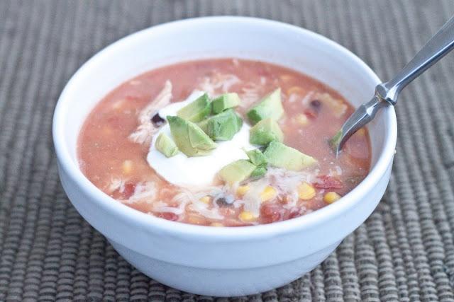 Crock Pot Chicken Enchilada Soup | \Food | Pinterest