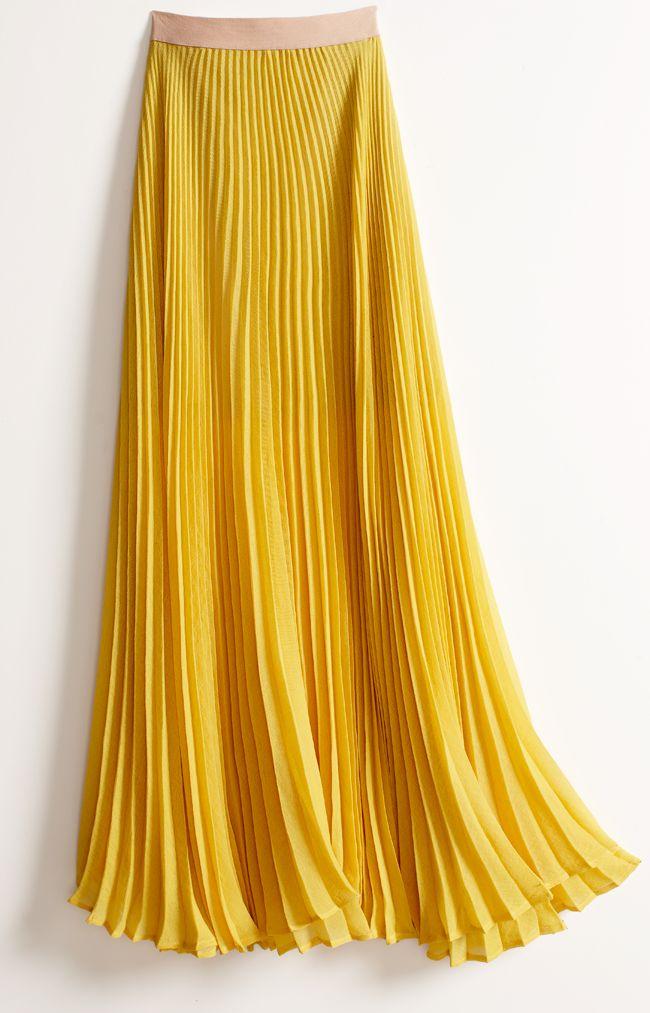 bcbgmaxazria pleated maxi skirt style