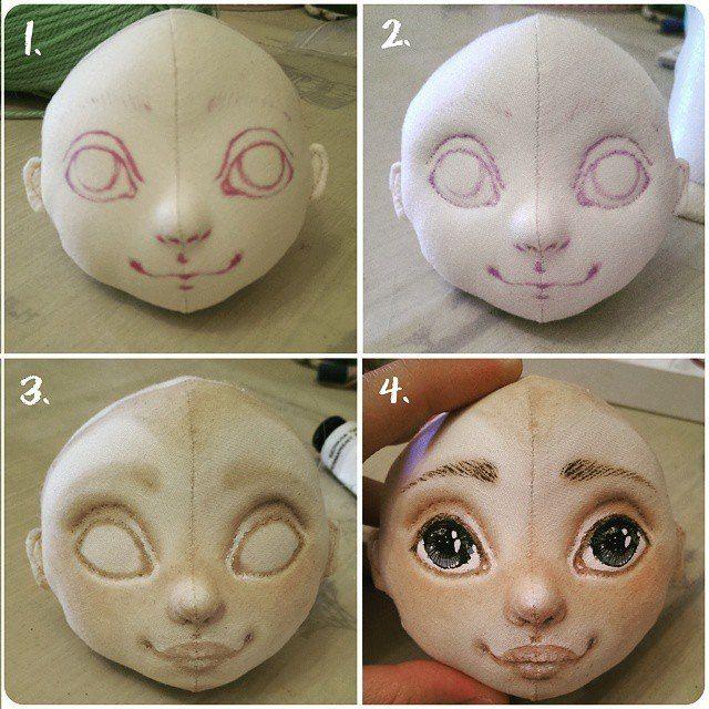 Нарисовать кукле лицо