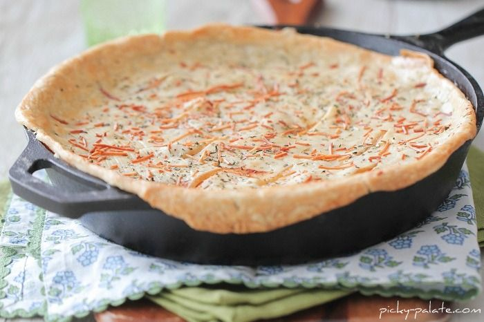Chicken Parmesan Skillet Pot Pie. Made this tonight and it was so good ...