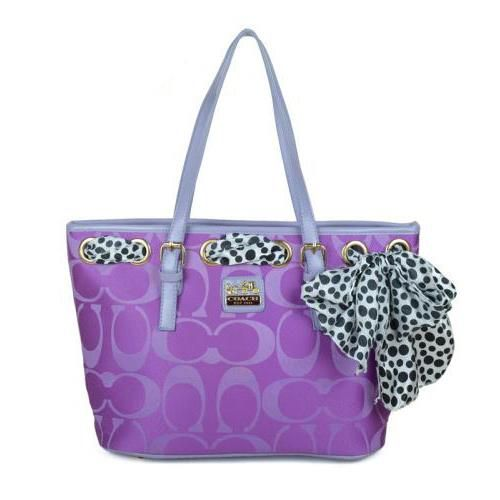 Cheap And Fashion Coach Legacy Scarf Medium Purple Totes EAQ Are Here!