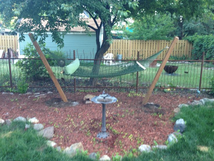 Hammock Backyard : Backyard Hammock  House ideas  Pinterest
