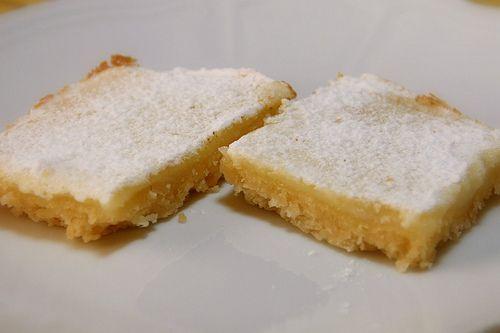 Lemon squares - shortbread base   Food