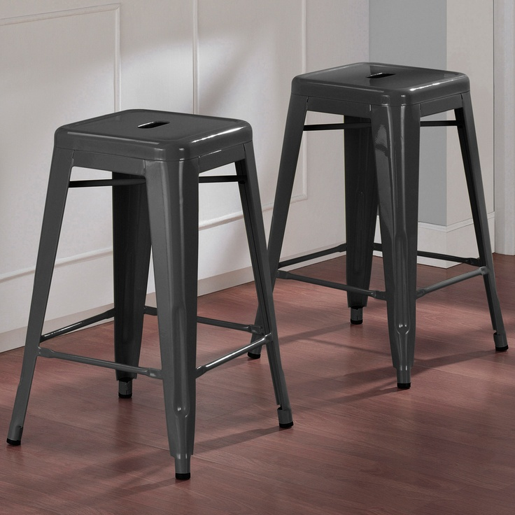 Tabouret 24 inch Charcoal Grey Metal Counter Stools Set of 2 : dd731b1789d6538911ac0626349ae787 from www.pinterest.com size 736 x 736 jpeg 137kB