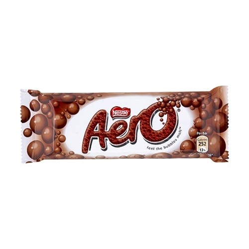 Nestle Aero Milk Chocolate Bar is creamy smooth milk chocolate with    Nestle Milk Chocolate Bar