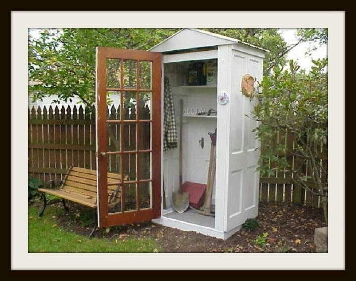 Garden Shed Made From Repurposed Doors Creative