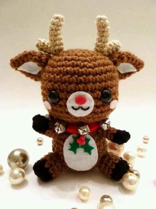 Rudy Reindeer Amigurumi : Rudolph reindeer Crochet Pinterest
