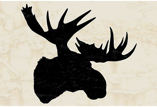 Moose Head Stencil Top moose head tattoo images for pinterest tattoos