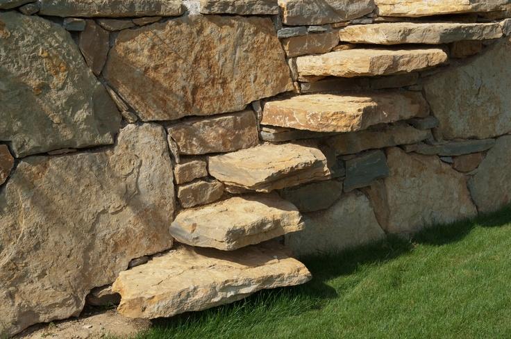 escalier en pierres naturelles  stone stairways  Pinterest