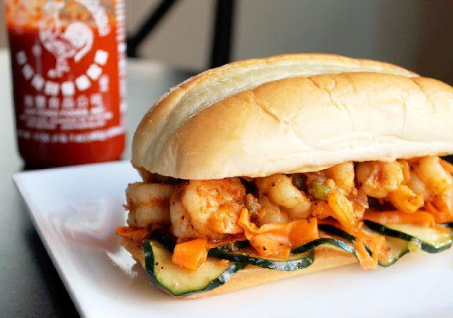 """Shrimp Banh Mi with Spicy Sriracha Mayo {Creole Contessa} """"A Banh Mi ..."""