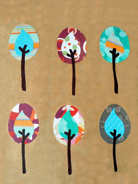 Here's a lovely way to use paper scraps and kraft paper to create one-of-a-kind wall art.