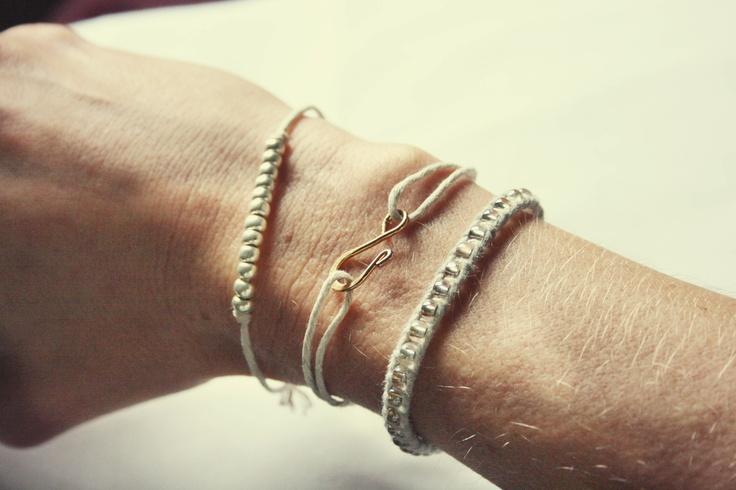DIY: simple bracelet trio