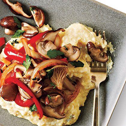 Blue Cheese Polenta with Vegetables Recipe   MyRecipes.com