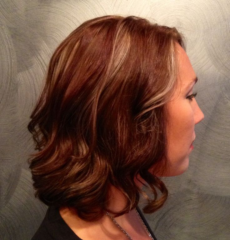 ... auburn brown blonde titanium curls | My Own Hair Creations | Pinterest