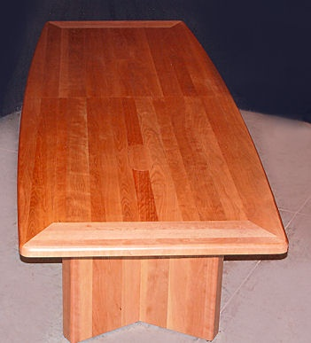 Cherry wood conference room table