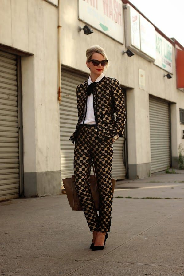 Atlantic-Pacific (Fashion Blogger) in a suit. Women in suit