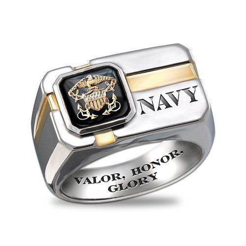 Exchange Bradford Exchange. $149.00. Bold U.S. Navy men's ring ...