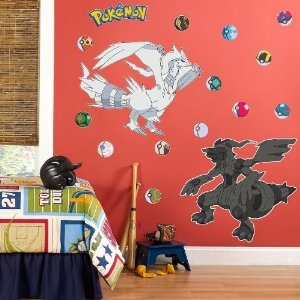 Pokemon Black and White Legendary Characters Giant Wall Decals