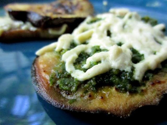 Grilled Eggplant Pesto Melt | Food | Pinterest