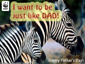 father's day ecard wwf