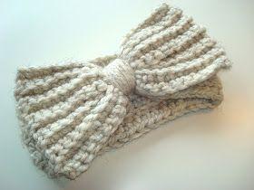 Big crochet bow pattern | Crochet | Pinterest