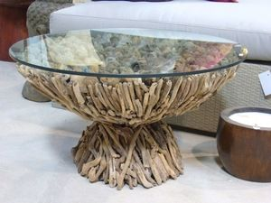 Table basse ronde bois flotté  Furniture Of All Sorts  Pinterest