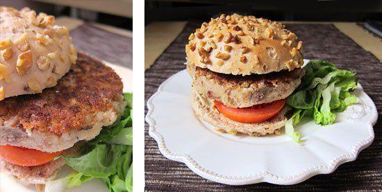 Basmati Rice Burger with Pinto Beans | Vegan | Pinterest