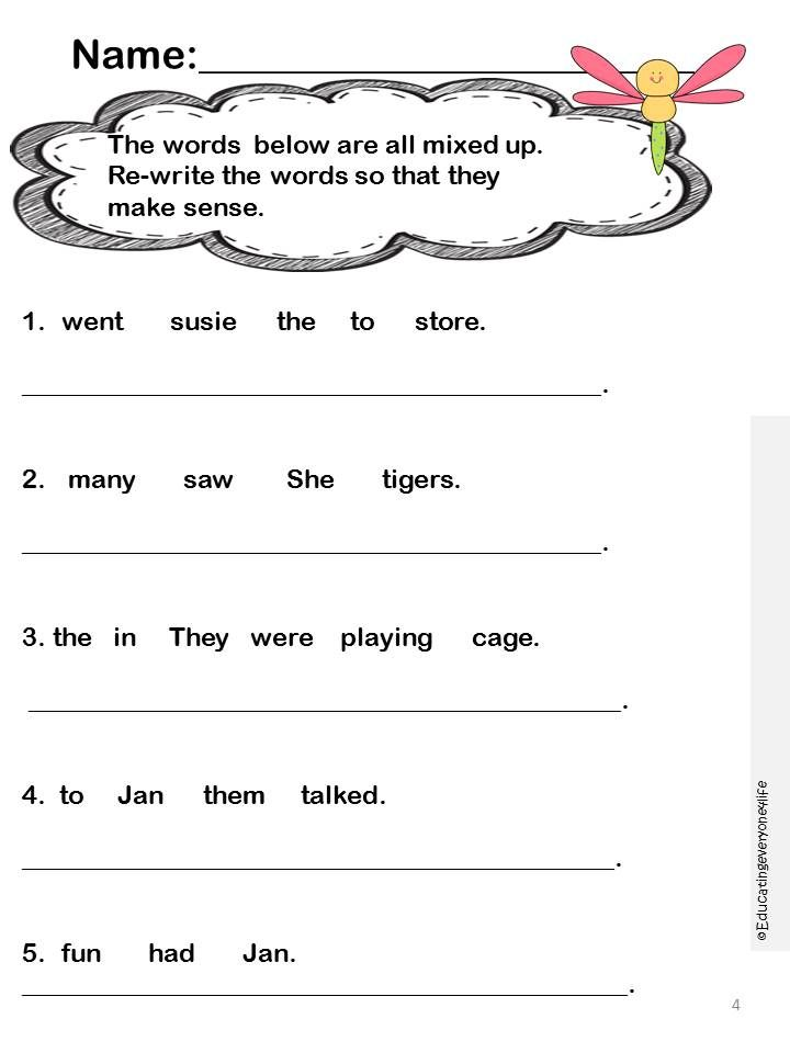 Language Arts Worksheets – Language Art Worksheets