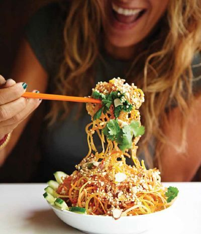 Tangled Thai Salad with a peanut lime dressing
