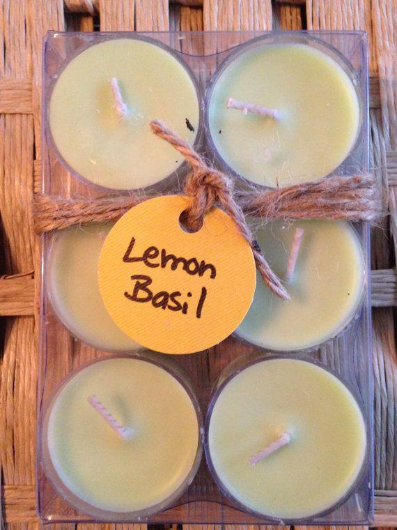 Soy Tea Lights 6 Pack Lemon