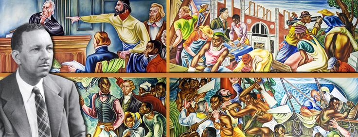 Hale woodruff amistad murals art pinterest for African american mural