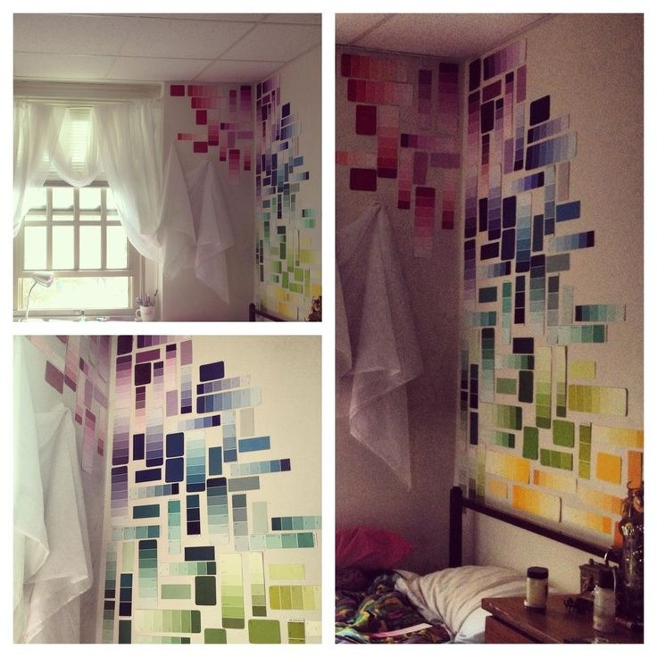 diy bohemian dorm room ideas diy paint sample decorating