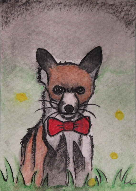 Mr Peppers - Original Watercolor  ACEO Art Card by davidrodriguez, $14.99