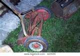 Non motorized push lawn mowers were common when I was a young child.