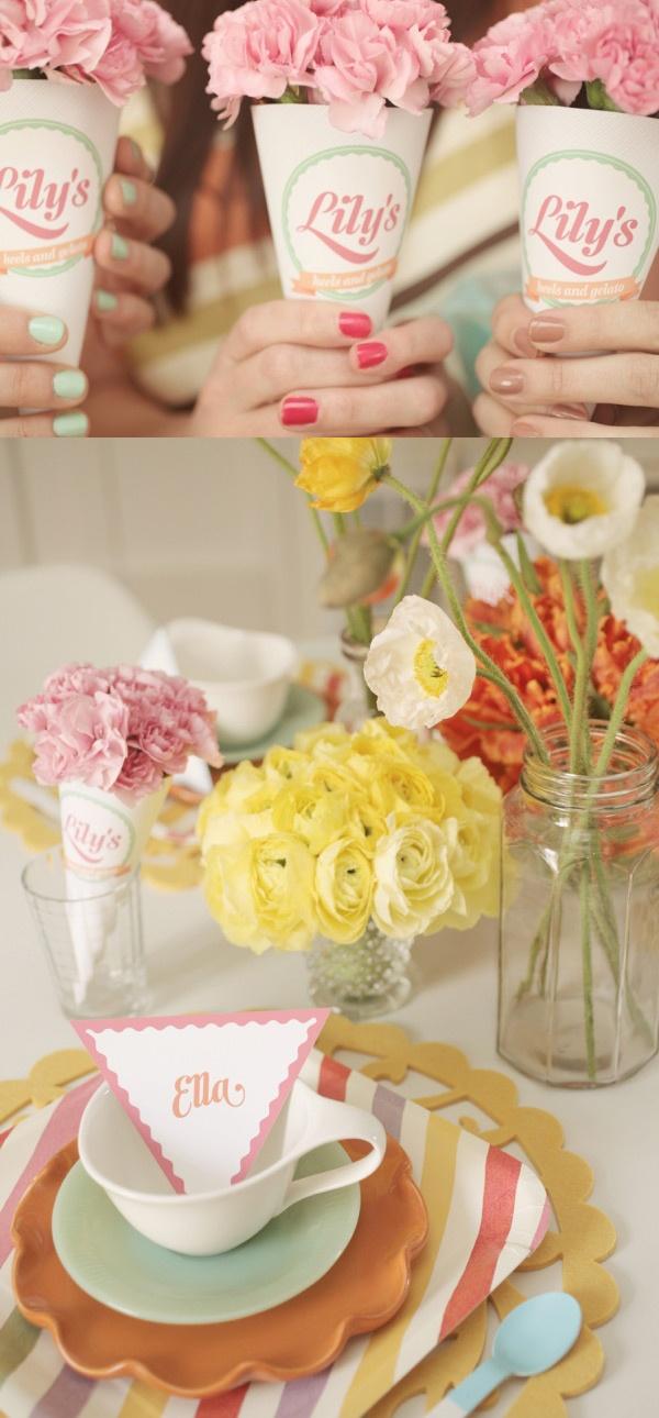 Cute Wedding Shower Decorations : Cute gelato themed bridal shower ideas weddings