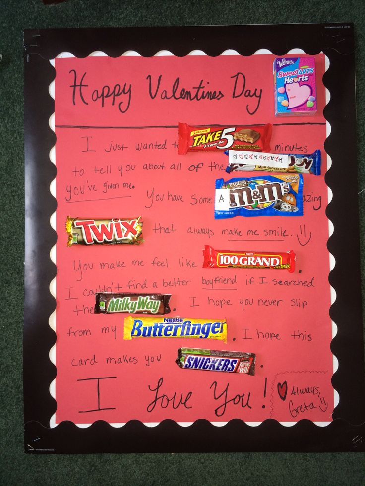 candy poster i made for my boyfriend for valentine