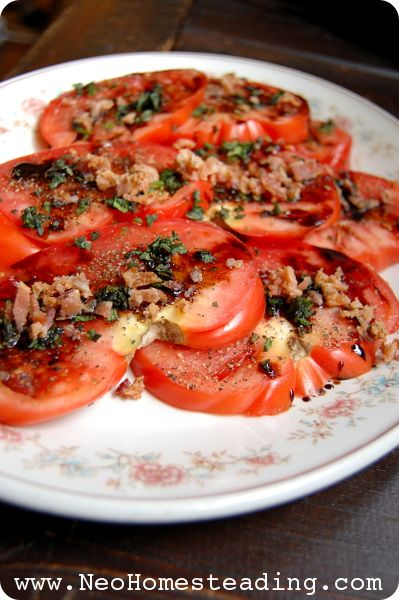 ... Salad with Balsamic Reduction, Bacon & Fresh Mint | Neo-Homesteading