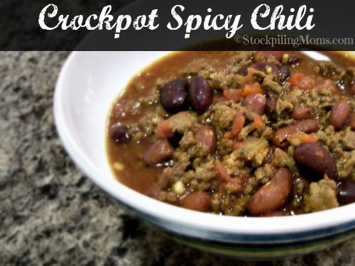 Crockpot Spicy Chili is the perfect slow cooked chili recipe ever! # ...