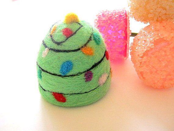 Christmas Tree GumDrop Gum Drop Needle Felted Soap Felt Soap Hostess ...