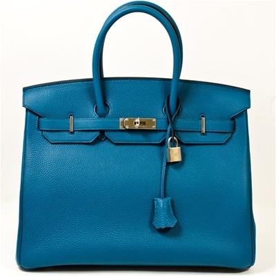 Hermes Handbag | Hermes Cobalt Blue Birkin Bag Togo 35cm PHW Never ...
