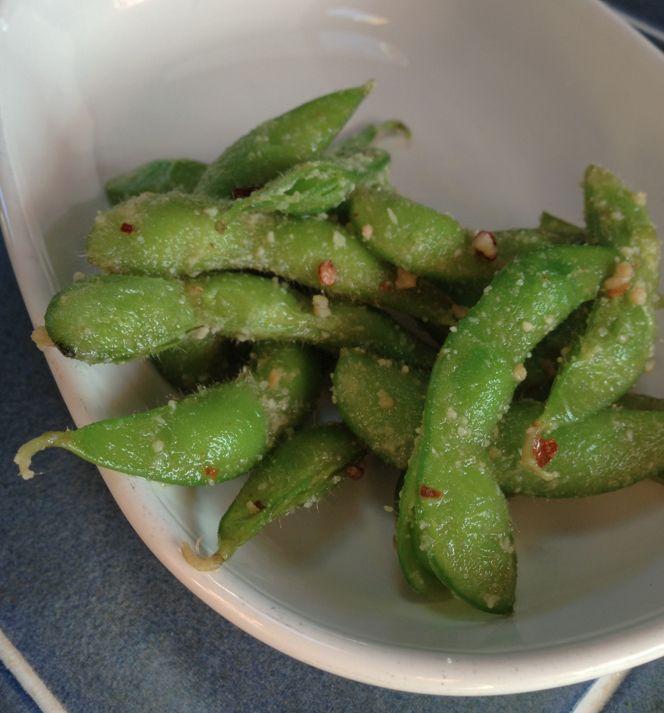 Garlic Chili Edamame - kicks the bread & oil carb cravings! #keto