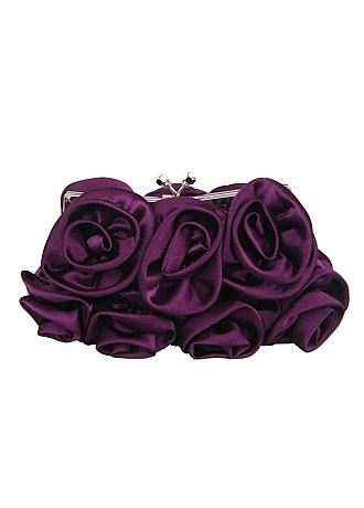 Gorgeous Purple Silk Evening Handbags /  Clutches /  Top Handle Bags