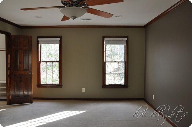 Oak trim light brown walls house decor pinterest